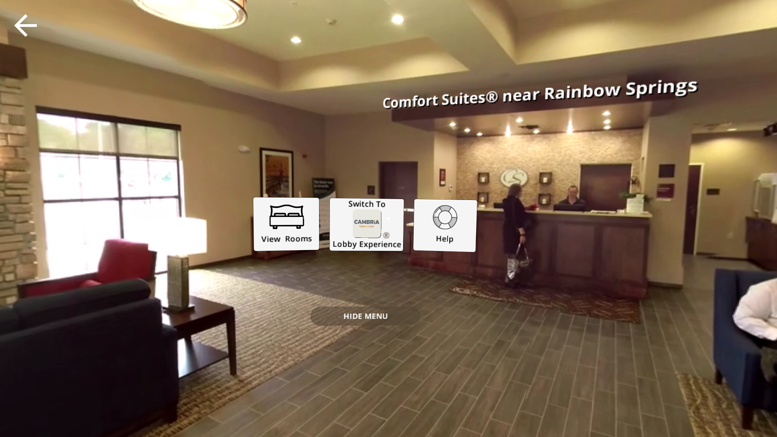 Choice Hotels Virtual Visit Screenshot
