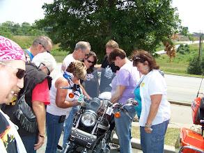 Photo: Blessing Mike Graham's Bike