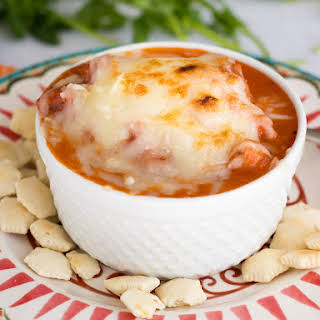 Creamy Tomato Soup with Chicken and Sausage.