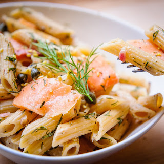 """NYC Smoked Salmon """"Everything Bagel"""" Penne."""