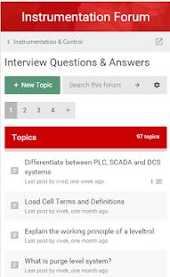 Instrumentation Forum screenshot