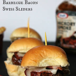 Barbecue Bacon Swiss Sliders.