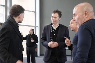 Photo: TedxAlsace -  Frédéric Home, Daniel Kaplan et Philippe Studer