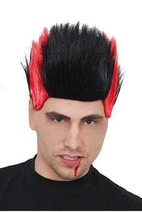 Peruk Vampyr, svart/röd