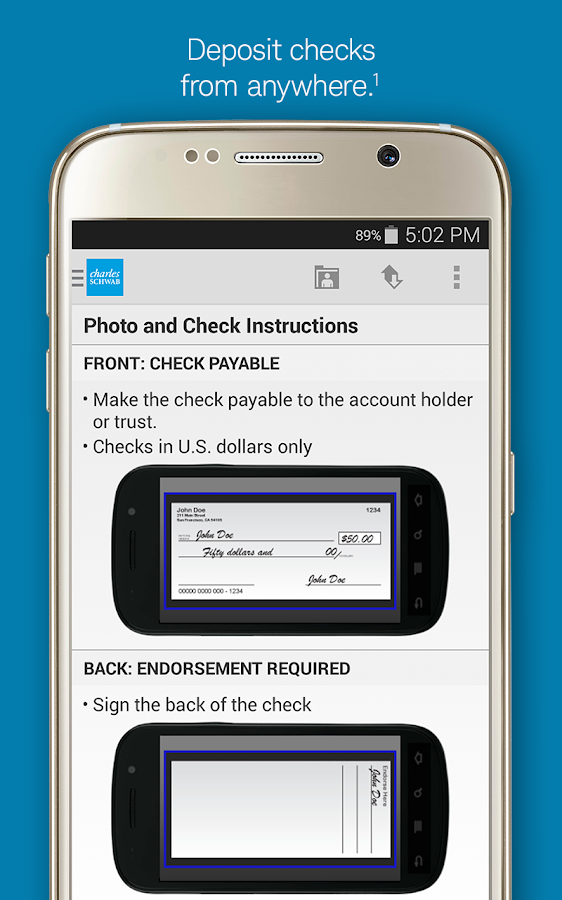 Schwab Mobile - screenshot