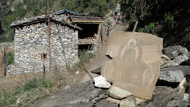 Photo: The harder rock of this region means the relief on the carvings is shallow - but detail greater