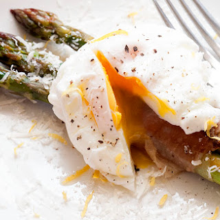 Roast Asparagus with Parma Ham & Poached Egg
