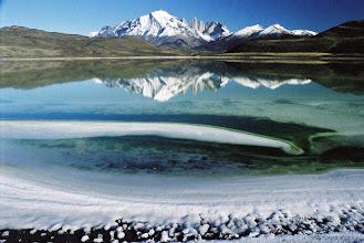 Photo: TORRES DEL PAINE salt lake, entering park from the west via Puerto Natales