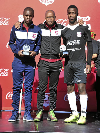 Former Kaizer Chiefs and Orlando Pirates winger Jabu Mahlangu, middle, is now one of the most marketable figures in the country.