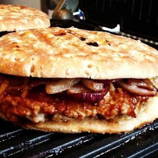 Pressed BBQ Turkey Burger.