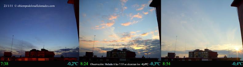 Photo: Amanecer del día 23/01/11