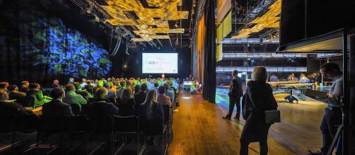 Photo: Zetlitz rigget for konferanse og utstilling. Foto: Sindre Ellingsen/Stavanger konserthus