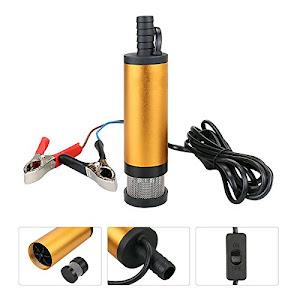 Pompa transfer lichide, combustibil, uleiuri, 12V, 12 L/min, 8500 RPM, 16 mm