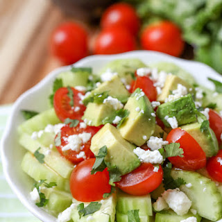 Tomato Cucumber Avocado Salad