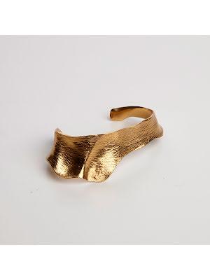 Cornelia Webb, hudavtryck armband guldpläterad mässing