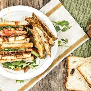 Smoky Tofu Club Sandwich.