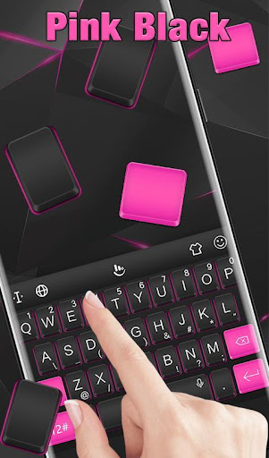 Pink Black Keyboard Theme screenshot 3
