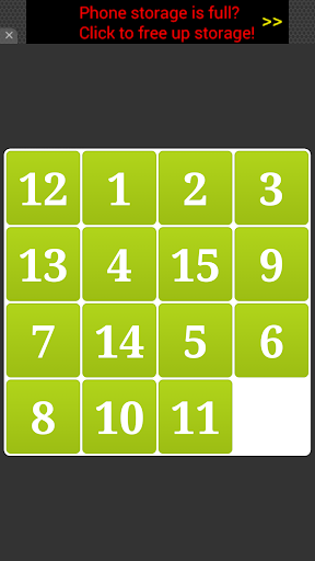 15 Numbers Puzzle