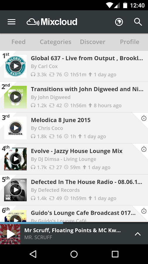 Mixcloud - Radio & DJ mixes- screenshot