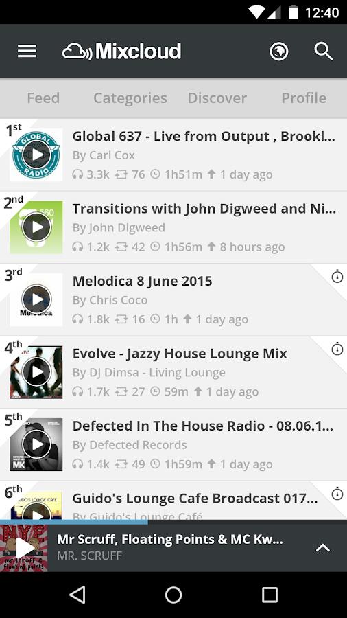 Mixcloud - Radio & DJ mixes - screenshot