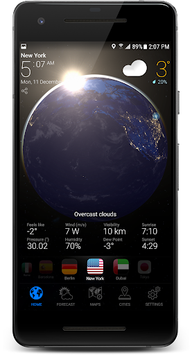 3D EARTH - accurate weather forecast & rain radar 1.1.3 screenshots 2