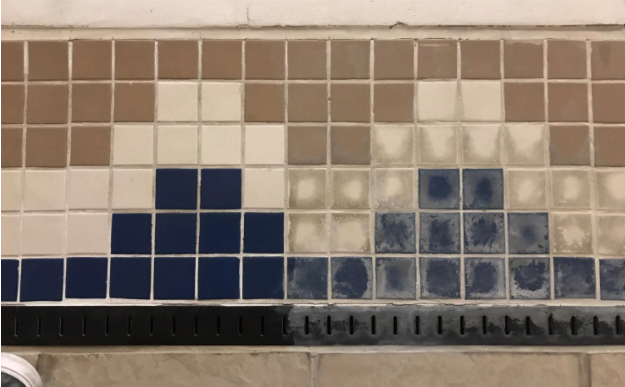 pool grout cleaning and repair, Before and after, Hammond Knoll