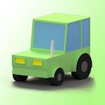 Race car 3d icon
