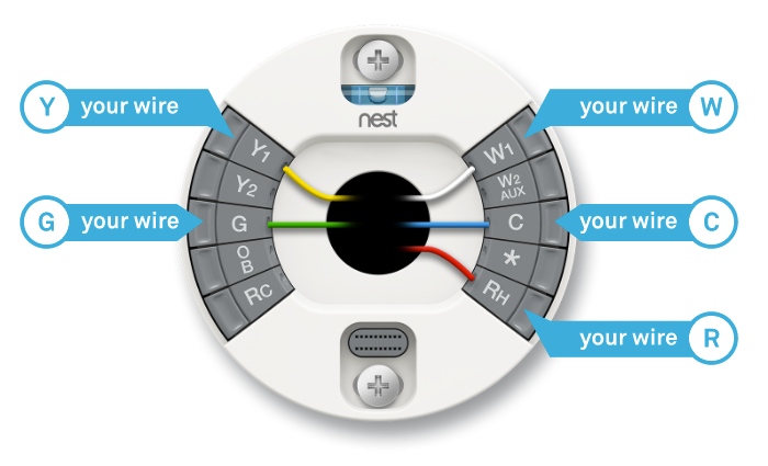 Nest thermostat wiring diagram