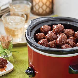 Cranberry Barbecue Meatballs.