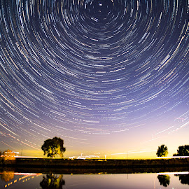 Sacramento River Star trail by Sean Markus - Novices Only Landscapes