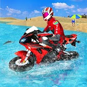 Water Surfer Bike Riding 3D: Water Games