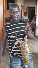 """Photo: Yano, the """"lobster man"""", Busua Inn, west coast, Ghana"""