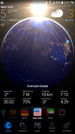 WEATHER NOW - Accurate Forecast Earth 3D & Widgets Screenshot