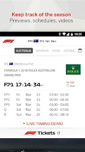 Official F1 ® App Capture d'écran