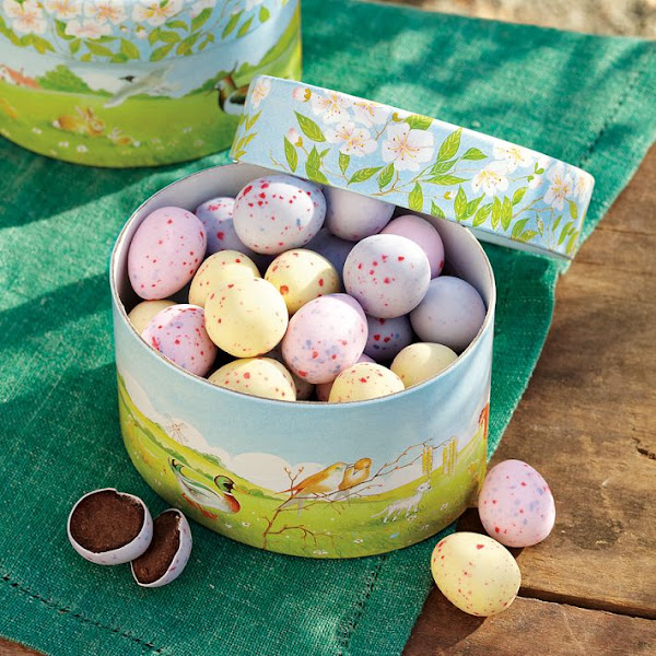 Photo: Chocolate Truffle-Filled Eggs in a Box - To shop all Easter Food, go to: http://bit.ly/H0H0Vp