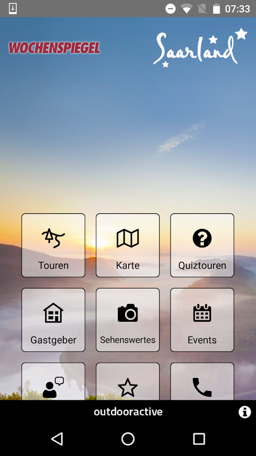 Saarland: Touren - App- screenshot