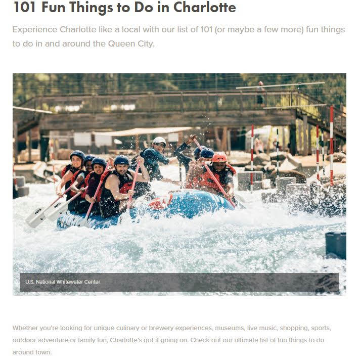 101 Fun Things To Do In Charlotte!!
