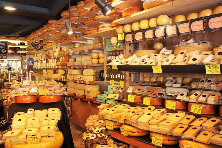 Inside De Kaaskamer cheese shop.  Photo: Babyccino.