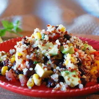 Quinoa, Avocado and Black Bean Salad.