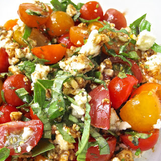 Tomato Basil Feta Salad.