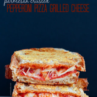 Parmesan Crusted Pizza Grilled Cheese