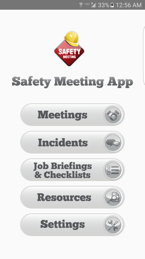Safety Meeting App- screenshot