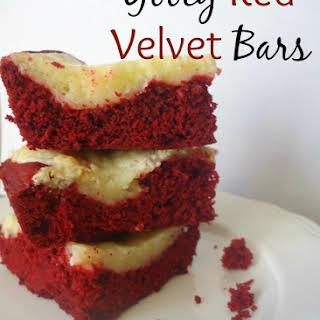 Gooey Red Velvet Bars.