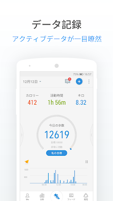 歩数計/万歩計 : 人気の無料ウォーキングアプリ、ステップカウンター、カロリー計算、減量トラッカーのおすすめ画像1