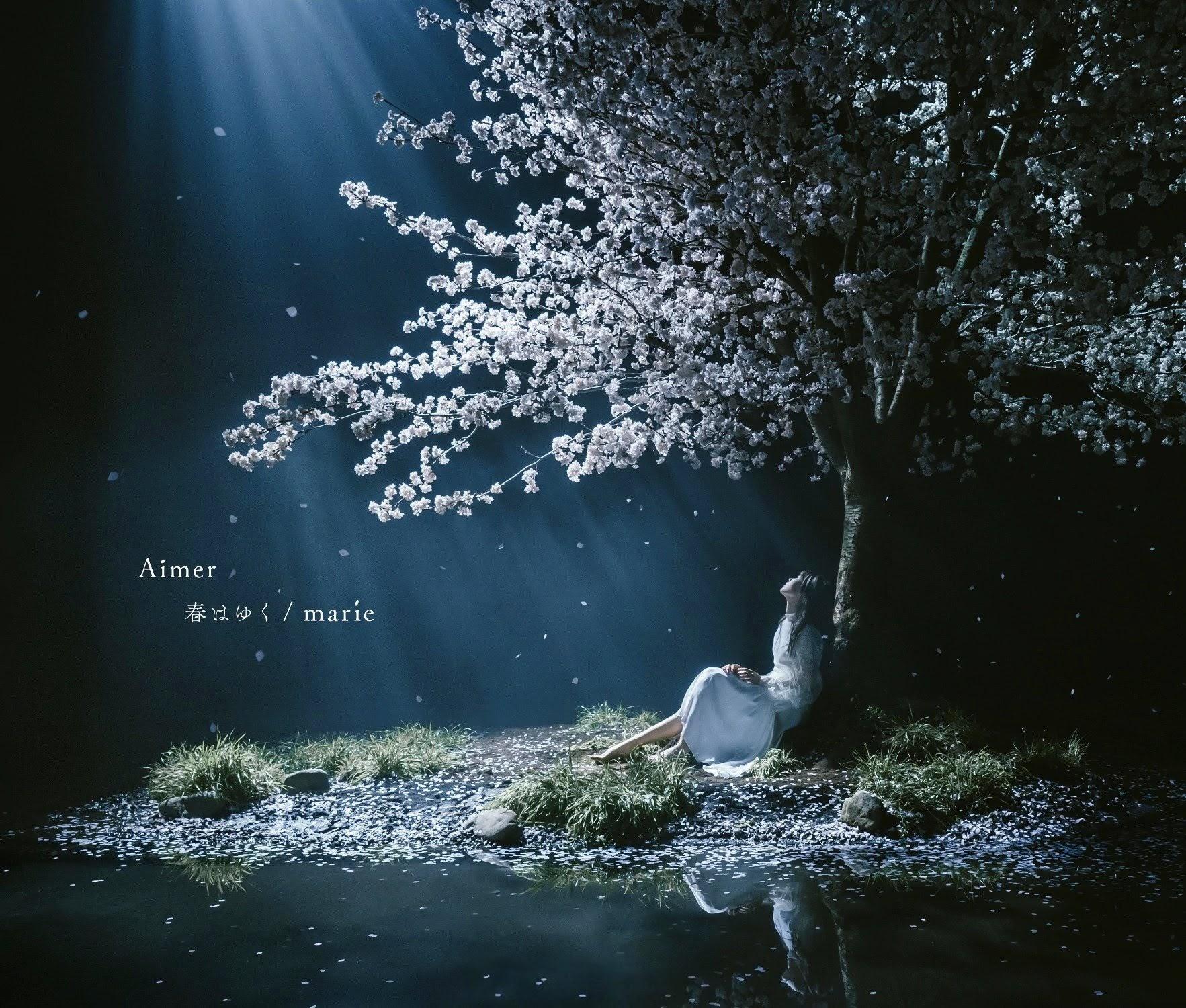 "Capa do single ""Haru wa Yuku/marie"" – Regular Edition."