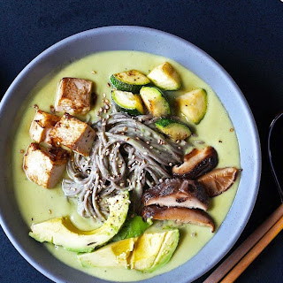 Avocado Coconut Miso Soba Noodles.