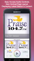 Screenshot of Praise 104.7 - Richmond