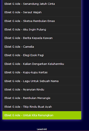 G rindu ebiet download ade lagu ayah titip