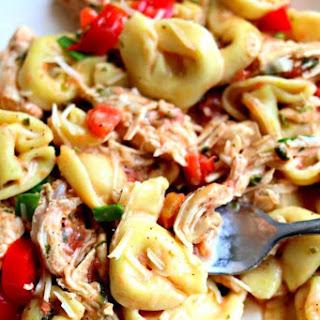 Slow Cooker Creamy Basil Chicken and Tortellini Recipe