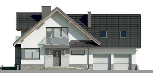 Dom przy Cyprysowej 15 DN2 - Elewacja przednia